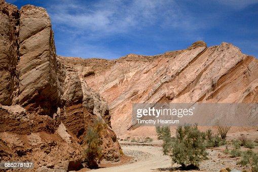 Dirt road through Canyon Sin Nombre : Stock Photo