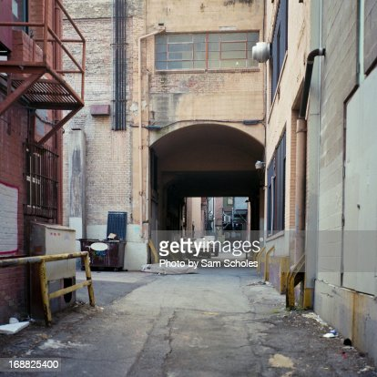 Dirty Back Alleyway Downtown