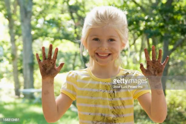 Dirty Caucasian girl