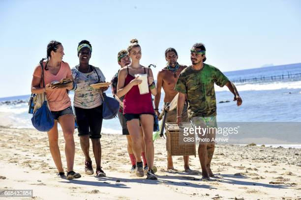 'Dirty Deed' Sarah Lacina Cirie Fields Zeke Smith Andrea Boehlke Troyzan Robertson and Oscar 'Ozzy' Lusth on the fifth episode of SURVIVOR Game...
