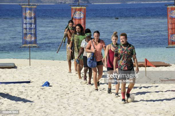 'Dirty Deed' Troyzan Robertson Oscar 'Ozzy' Lusth Cirie Fields Sarah Lacina Andrea Boehlke and Zeke Smith on the fifth episode of SURVIVOR Game...