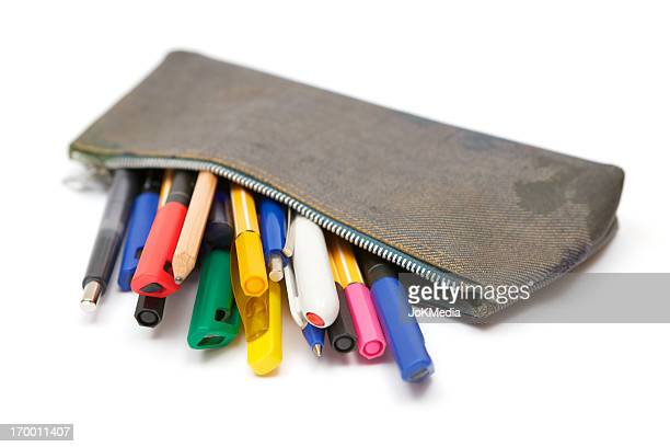 Dirty Denim Pencil Case