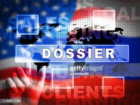 Dirty Dossier Flag Containing Political Information On The American President 3d Illustration : Stock Photo