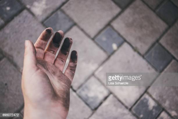 Dirty female hand