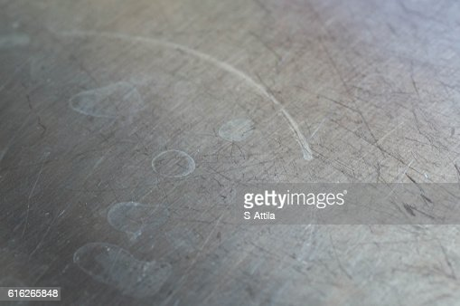 Dirty metal surface cooking marks on it : Stock Photo