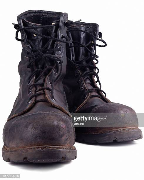 dirty old combat boot