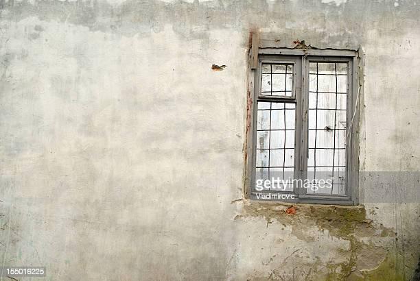 Wand Fenster Gittermuster