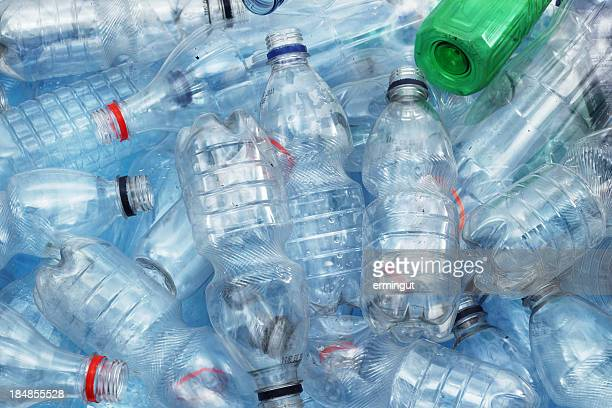 Dirty plastic bottles