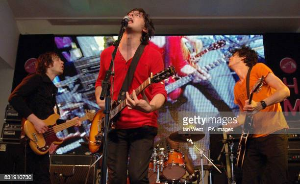 Dirty Pretty Things during an instore gig at HMV in Oxford Street central London