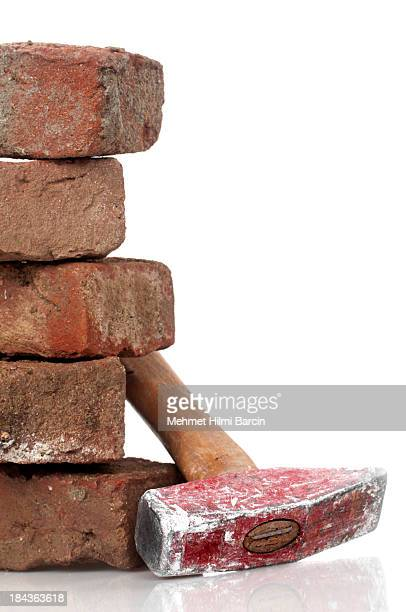 Dirty Red Brick and  Hammer