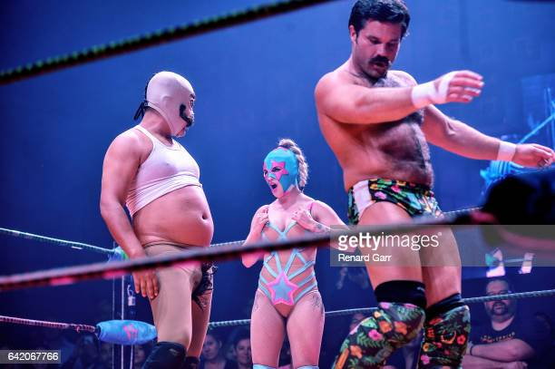 Dirty Sanchez Dama Fina and Joey Ryan at Mayan Theater on February 9 2017 in Los Angeles California