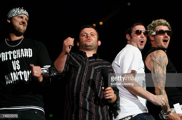 Dirty Sanchez present the award for Sexiest Video during the third annual MTV Australia Video Music Awards 2007 at Acer Arena on April 29 2007 in...