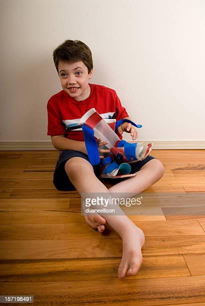 Disable boy on floor