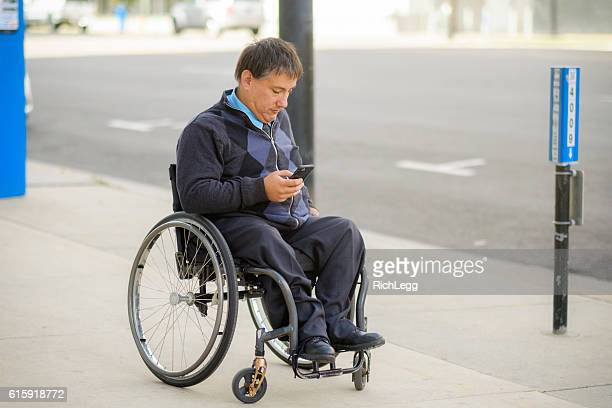 Disabled Business Man in the City