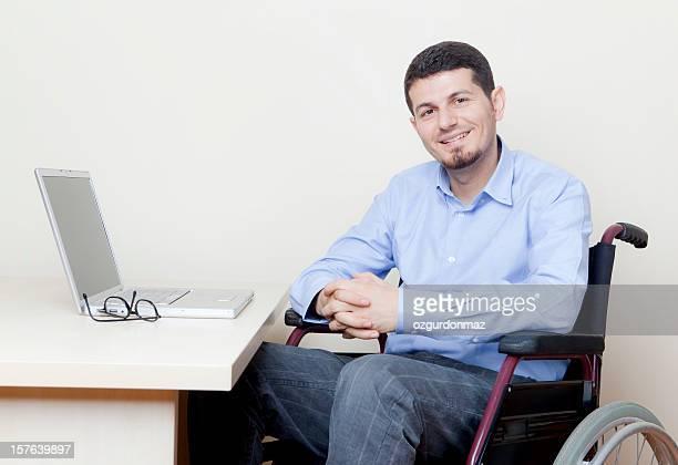 Disabili Uomo d'affari