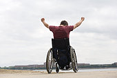 Disabled man in a wheel chair