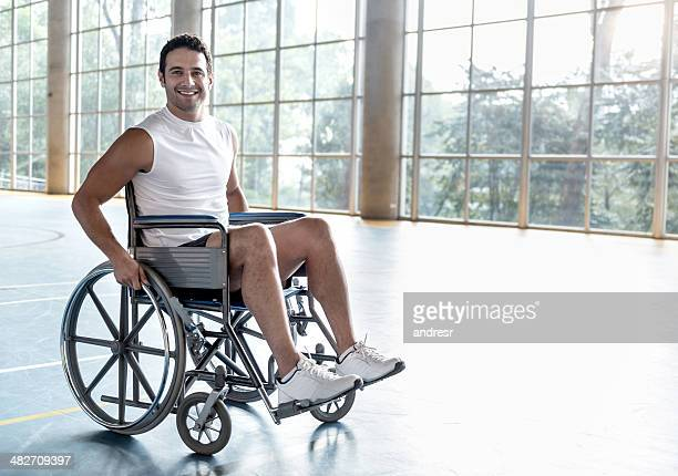 Disabled sports man