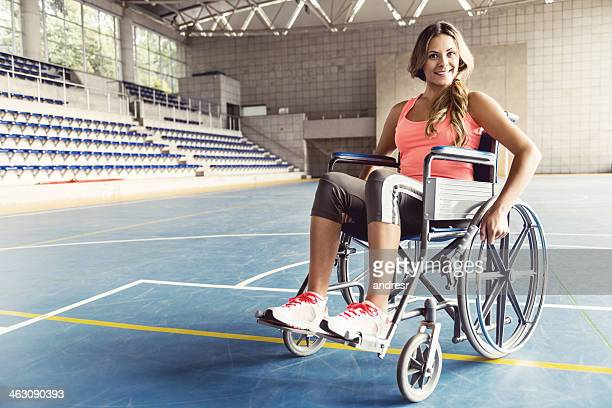 Disabled sports woman