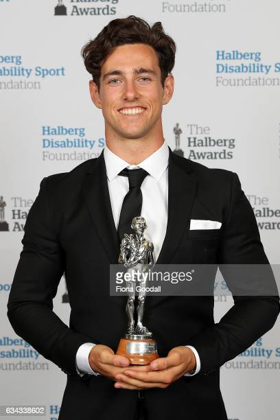 Disabled Sportsperson of the Year Sprinter Liam Malone at the 54th Halberg Awards at Vector Arena on February 9 2017 in Auckland New Zealand