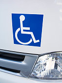 Disabled sticker on a car