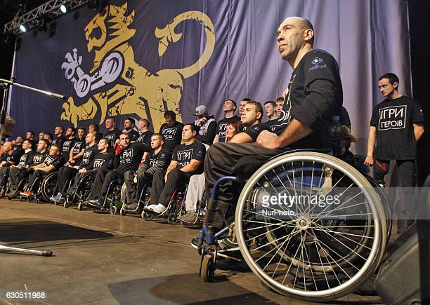 Disabled Ukrainian soldierswho were injured and became disabled during the fightings with proRussian separatists in eastern Ukrainetake a part at the...