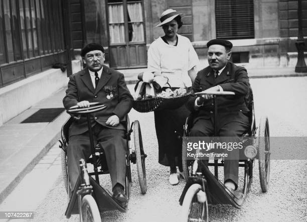 Disabled War Veterans In Paris On July 13Rd 1935