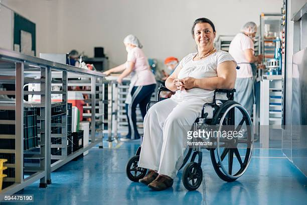 Disabled Woman Owner of Bakery Workshop