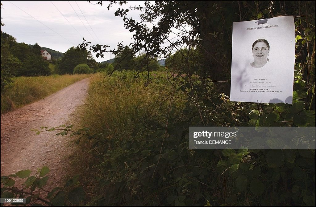 Disappearance Of Julie 14 Years, Near To Schirmeck (Bas-Rhin). On February 6, 2006 In France. Julie, 14, disappeared in the Evening of Friday, August 24, 2004 between Russ And Schirmeck 3kms from distance. She used to ride on her bicycle on that dirt road that separates the two villages. This is the second disappearance of young girls in Alsace in a week.