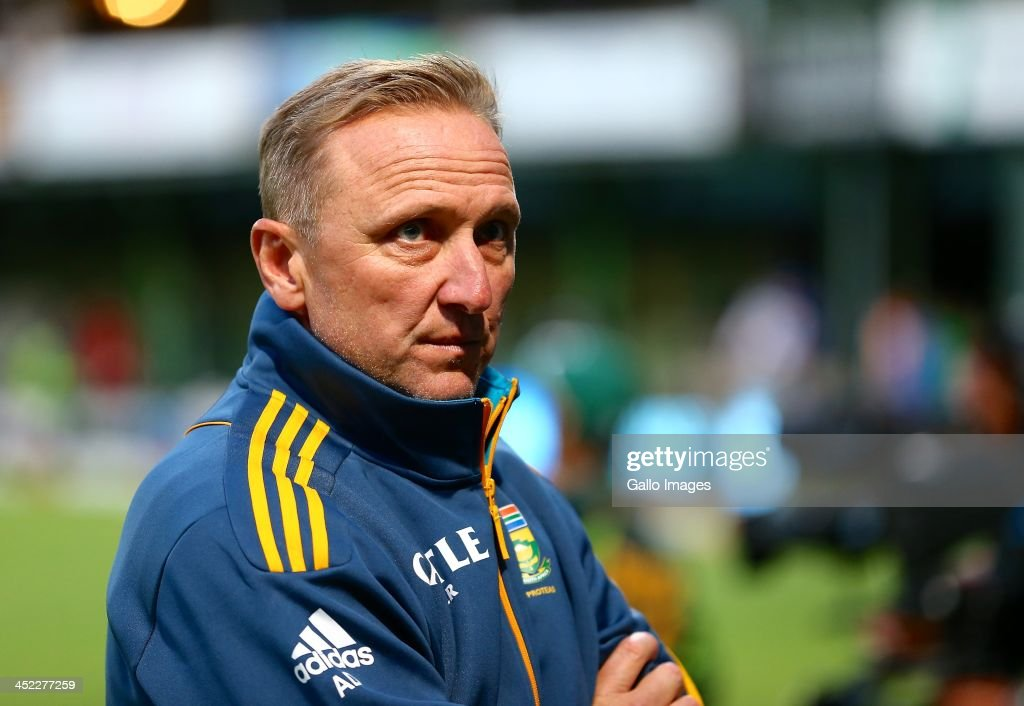 A disappointed <a gi-track='captionPersonalityLinkClicked' href=/galleries/search?phrase=Allan+Donald&family=editorial&specificpeople=2185652 ng-click='$event.stopPropagation()'>Allan Donald</a> during the 2nd One Day International match between South Africa and Pakistan at AXXESS St Georges on November 27, 2013 in Port Elizabeth, South Africa.