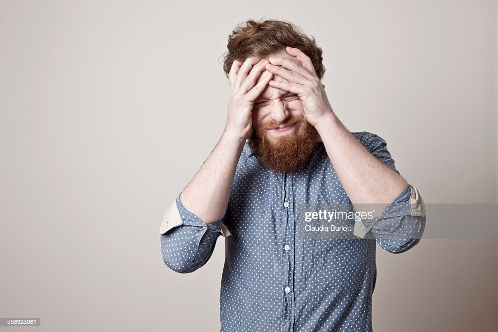 Disappointed guy : Foto stock