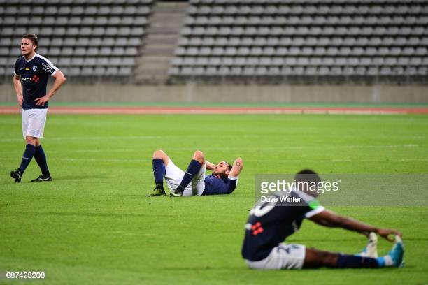 Disappointment for Paris FC as they lose the Playoff match between Paris Fc and Us Orleans at Stade Charlety on May 23 2017 in Paris France