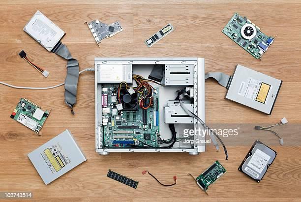 Disassembled computer