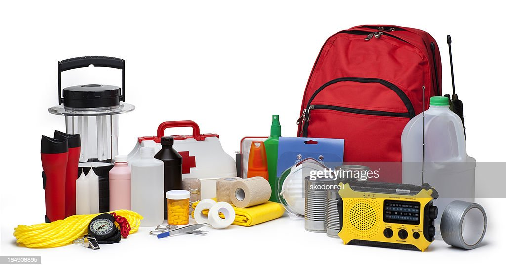 Disaster Emergency Supplies : Stock Photo