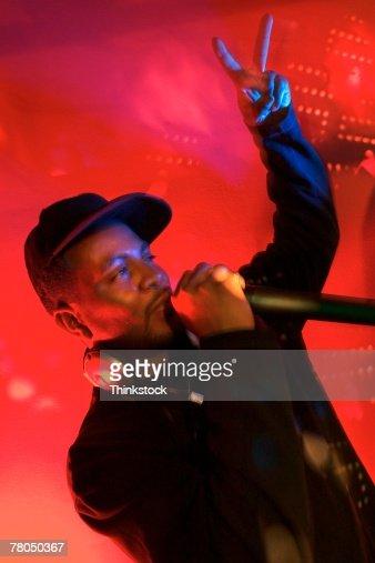 Disc jockey or rapper : Stock Photo