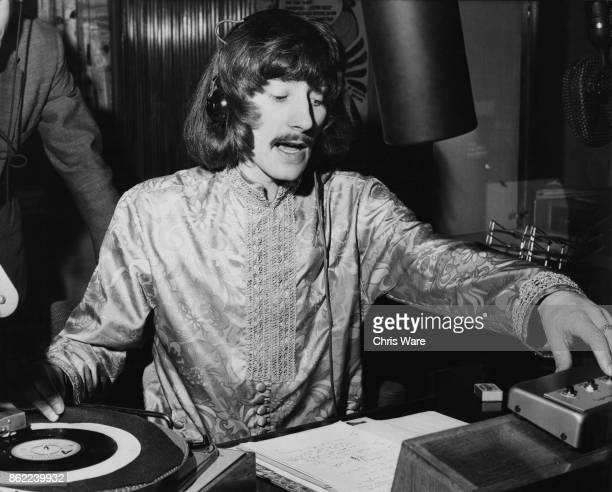 Disc jockey Stuart Henry in the BBC Radio 1 studio 16th December 1967