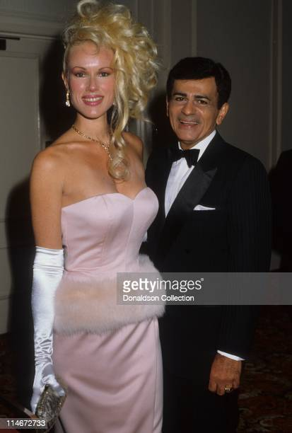 Disc jockey TV personality and actor Casey Kasem and wife Jean Kasem attend the St Jude Children's Hospital Benefit Gala on August 30 1986 at the...