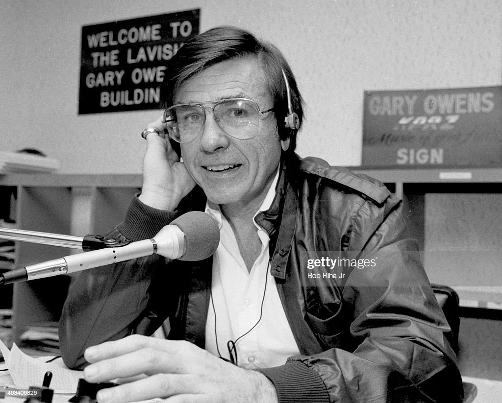 Disc jockey/voice actor Gary Owens seen during photo shoot on September 7 1983 in Los Angeles California