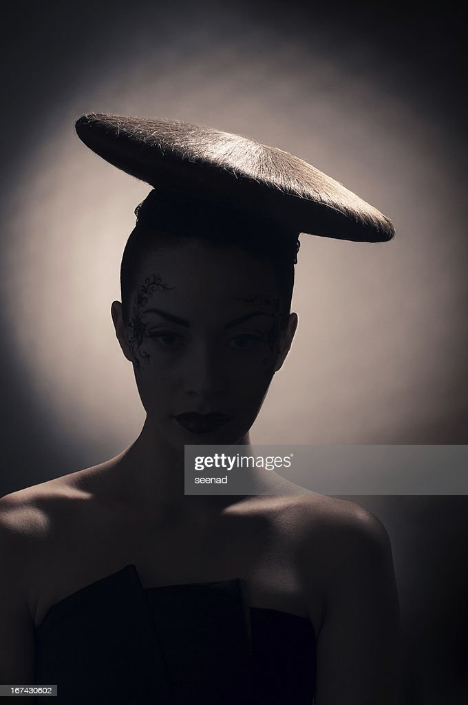 coiffure disc silhouette : Stock Photo