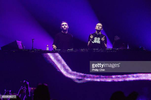 Disclosure members Guy Lawrence and Howard Lawrence perform at the Contact Winter Music Festival at BC Place on December 27 2016 in Vancouver Canada