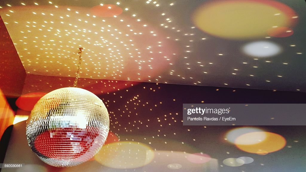 Disco Ball And Lights On Ceiling