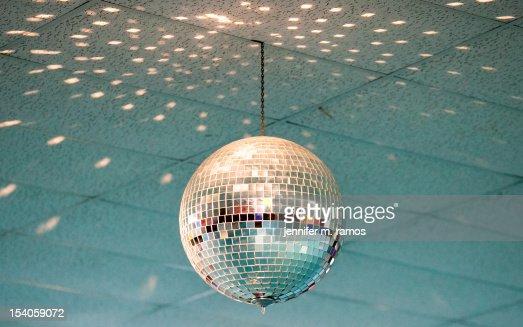 Disco Ball at a skating rink