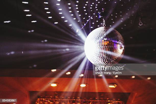 Disco Ball At Illuminated Nightclub