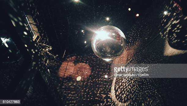 Disco ball in nightclub