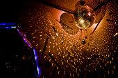 Disco ball reflecting light