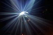 Disco ball with light splitting