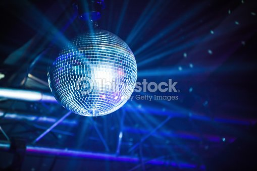 disco ball with rays party background ストックフォト thinkstock
