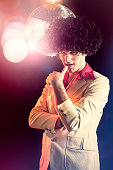Disco Dancer with Afro