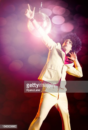 Disco Dancer with Afro : Stock Photo