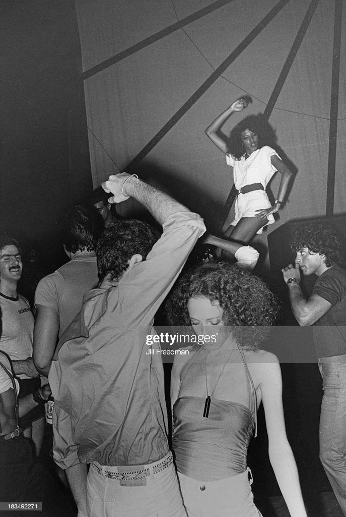 Disco dancing at a nightclub in Midtown Manhattan New York City 1979