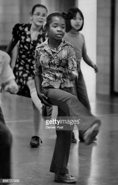 Disco dancing at Sabin Elementary School Credit Denver Post